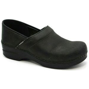 Dansko Womens Matte Black Clogs Size 40 9.5-10